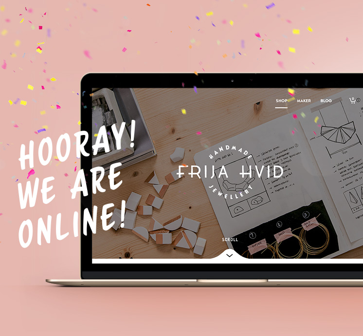 Frija Hvid - Website Launch